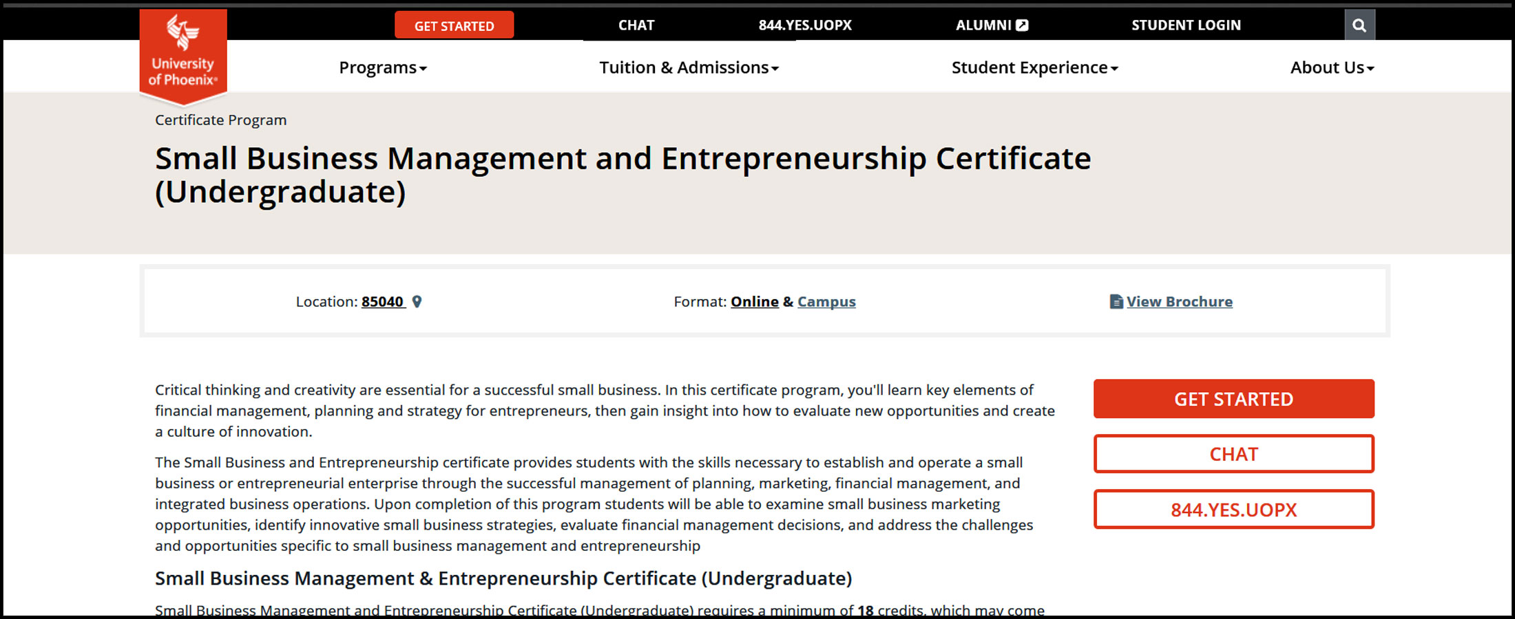 University Of Phoenix Small Business Management And